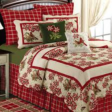confort navideño | navidad | Pinterest | Quilt bedding, Comforter ... & Lovely Christmas Bedding Inspiration Designs: Marvelous Red Single Bed With  Red Floral Cover Bed Also Red And White Flo. Adamdwight.com