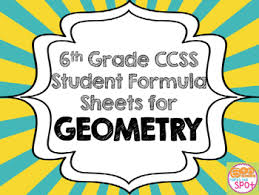 formula sheets for geometry 6th grade geometry formula sheet aligned to common core tpt