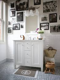 Inspiration for a mid-sized timeless master gray tile and ceramic tile  porcelain floor bathroom