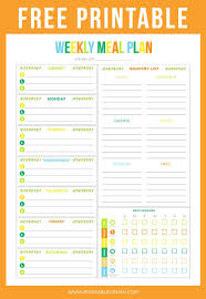 Food Journal Template Free Extraordinary FREE Printable Weekly Meal Planner Printable Crush