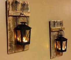 rustic candle holders rustic wood candle holder with lantern x 5 wood sconce pallet decor mini rustic candle