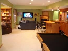 Homemade Man Cave Bar And Basement Rec Room