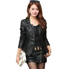 best 2018 new women leather coats casacos feminino autumn slim long sleeved plus size 4xl punk biker moto black faux leather jacket under 41 05 dhgate