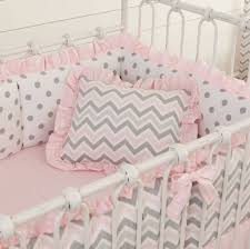 pale blue dots and chevron baby bedding ideas