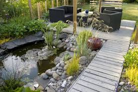 Lawn & Garden:Beauty Landscaping Backyard Ponds And Rock Waterfalls Ideas  Pretty Small Contemporary Garden