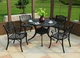 iron patio furniture mid century patio
