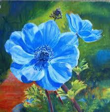 acrylic flower paintings marion s fl art blog blue anemone acrylic painting