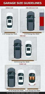garage sizes garage door size guidelines single two car and three car garages garage sizes and s