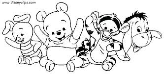 Baby Disney Cartoon Characters Coloring Pages Easy Pict Moonoon