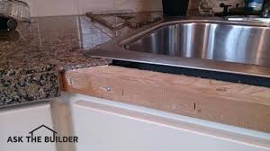 granite tiles countertop the granite pieces at the edged of this can be to the wood
