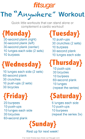 Gym Workout Sheet Classy Busy Week Here's Your Quick 44Day Workout Plan Home Workouts