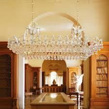 large classic rectangular crystal chandelier