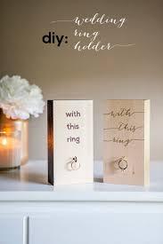 somethingturquoise diy wood block wedding ring holder 0001 jpg