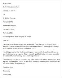 Nurse Resignation Letter Impressive Gallery Of Sample Nurse Resignation Letter Sample Resignation