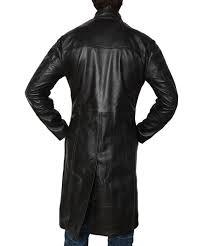 the matrix keanu reeves neo slimfit trench coat