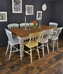 farmhouse dining chairs uk. enjoy springtime all year round with this pretty pastel multi-coloured farmhouse set. dining chairs uk t