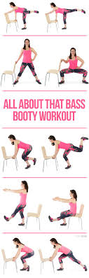 chair exercises. all about that bass booty workout [video] chair exercises