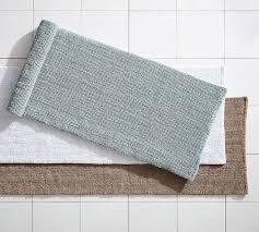 magnificent cotton bath rugs long bath rug pottery barn