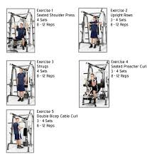 Md 9010g Exercise Chart Marcy Smith Machine Workout Routine Sport1stfuture Org