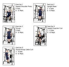 Marcy Smith Machine Workout Routine Sport1stfuture Org