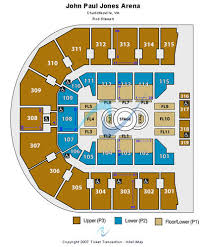 Jpj Seating Chart Complete John Paul Jones Arena Seating Chart Rows How Many