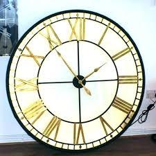 extra large roman numeral wall clock oversized clocks oaks