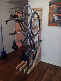 Diy bicycle rack Wall Mounted Picture Of Enjoy Instructables Vertical Bike Rack From 2x4s Steps with Pictures