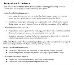Resume Experience Section
