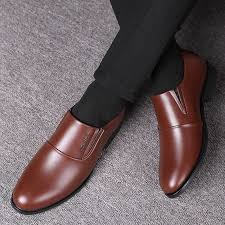 <b>leather</b> shoes  <b>Leather</b> shoes <b>men's youth business</b> casual formal ...