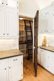 reclaimed barn wood pantry door with ladder cottage kitchen