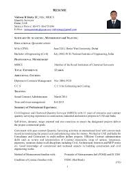1 RESUME Vishwas B Shetty BE, MSc, MRICS Quantity Surveyor Dubai, ...