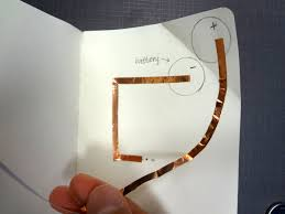 getting started basic tape based circuit the fine art of to make the copper tape curve pull the back end of the tape to one side as you push the tape down from the front end after you are done use the