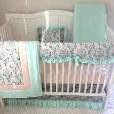 pink and green crib bedding mint green crib bedding baby set girl teal c peach gray