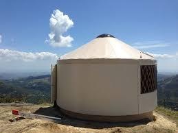 rainier yurt on the edge of a cliff in panama