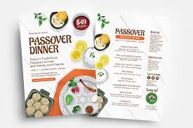 A La Carte Menu Template Passover Menu Flyer Templates Vol 2 Psd Ai Vector
