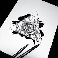 Hipster Drawings Art Drawing Flowers Hipster Sketch Triangle Crafty