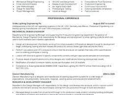 Mechanical Design Engineer Resume Samples And Senior Sa