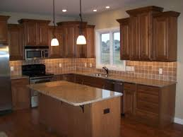 enchanting hickory kitchen cabinets with granite countertops l rta cabinet handles used for unfinished wall
