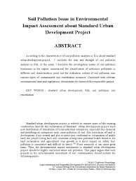 soil pollution issue in environmental impact assessment about  soil pollution issue in environmental impact assessment about standard urban development project environmental remediation environmental impact