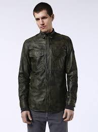 l focks leather jackets k58z2637jw34 dark olive green for mens