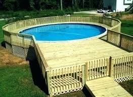 prefab above ground pool decks full size of fab above ground pool decks build assembled deck