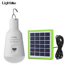 LightMe Portable Solar Led <b>Light Bulb</b>, <b>7W E27</b> Base Charged Solar ...