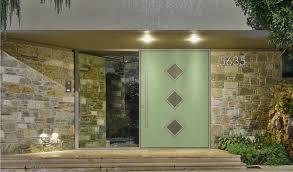 mid century modern front doors paint