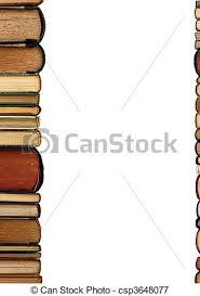 a pile old books white background csp3648077