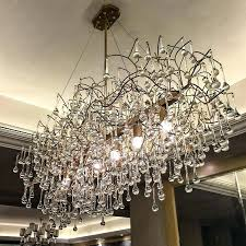 rectangular glass chandelier crystal dining room drop