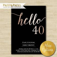 Free Printable Anniversary Cards For Her Adorable 48th Birthday Invitations Modern Faux Gold Foil Hello 48 Etsy