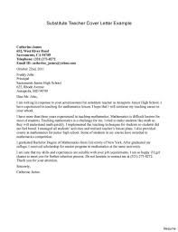 Teacher Cover Letter And Resume Substitute Teacher Cover Letter Example Resume Cover Letter 18