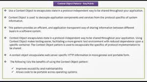 Context Design Pattern Java Ee Context Object Design Pattern Keypoints