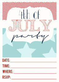 free printables 4th of july party invitation