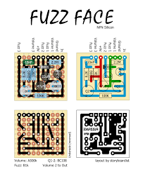 perf and pcb effects layouts npn fuzz face this would be a good candidate to fit in a 1590a enclosure you could also use this layout to make the pnp germanium fuzz face the colorsound 1 knob fuzz